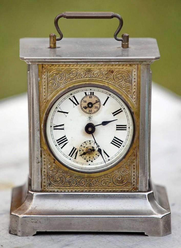 b0aec9a8f Старинные немецкие каретные часы будильник Junghans с музыкой Старинные  немецкие каретные часы Junghans с музыкой (
